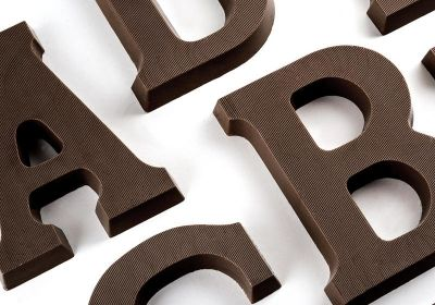 DARK Chocolate Letters A-Z