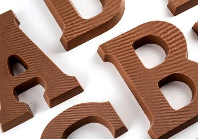 Milk Chocolate Letters A-Z