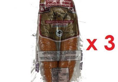Smoked Rookworst (Pork/Beef Smoked Sausage) 400g x 3